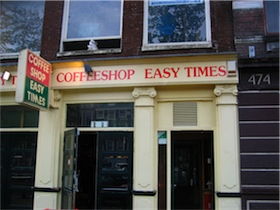 Coffee Shop i Amsterdam
